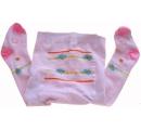 detské pančuchy ružové s motýlikmi