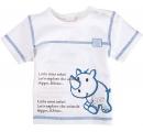 detské tričko biele s hrošíkom