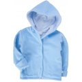 detská bunda-mikina flísová-modrá