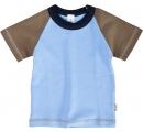 detské tričko - modro hnedé