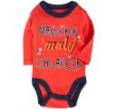 detské body - s vtipným nápisom - Mamičkin chlapček - červené