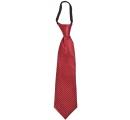detská kravata bordová s bielymi bodkami