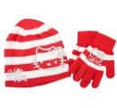 detská čiapka a rukavice Hello Kitty - červená