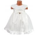 detské slávnosté šaty - smotanové