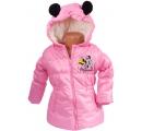 bunda na zimu s uškami - Minie ružová