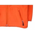 detské softshell bunda - oranžová