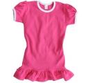 detské šaty s volánikom - tmavo ružové