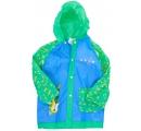 detský pršiplášť modro zelený