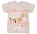 Béžové tričko - I love dinosaur