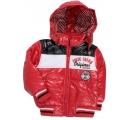 detská červená bunda na zimu