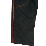 detské tepláky tmavo sivé - oranžový pásik