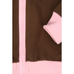 detská tepláková súprava hnedá - ružový pásik