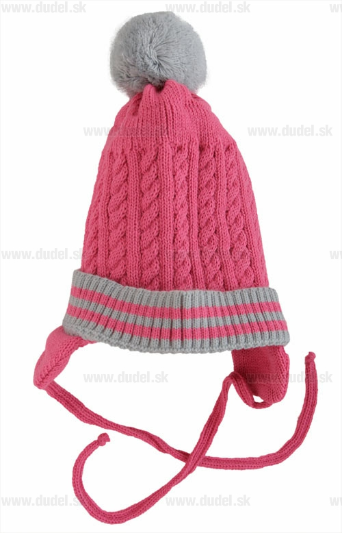 54e63e5a4 detská ružová čiapka s gongolcom