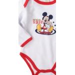 detské body Mickey Mouse - bielo červené