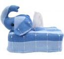 ozdoba na servítkové škatule - sloník modrý