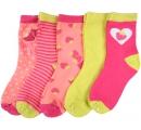 detské ponožky jahoda - 5 párov