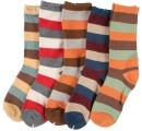 detské ponožky pásikové - 5 párov