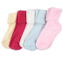 dievčenské jednofarebné ponožky - 5 párov