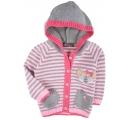 detský úpletový sveter sivo ružový - cica