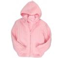 detský sveter s kožušinou - ružový