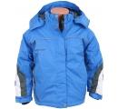 detská lyžiarska bunda modrá