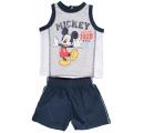 detská súprava tielko-šorky Mickey - modrá