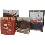 darčeková taška na Vianoce - hnedá malá