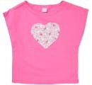 dievčenské tričko srdiečko - ružové