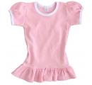 detské šaty s volánikom - ružové