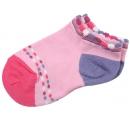detské členkové ponožky ružovo fialové