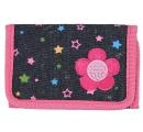 detská peňaženka s kvetinkou - ružová