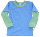 tričko modro zelené