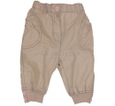 detské dievčenské nohavice béžové