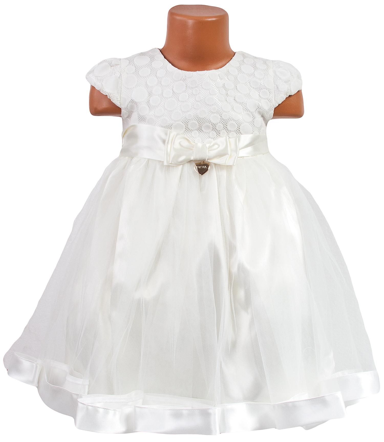 2664cfa2eb8c detské slávnosté šaty - smotanové