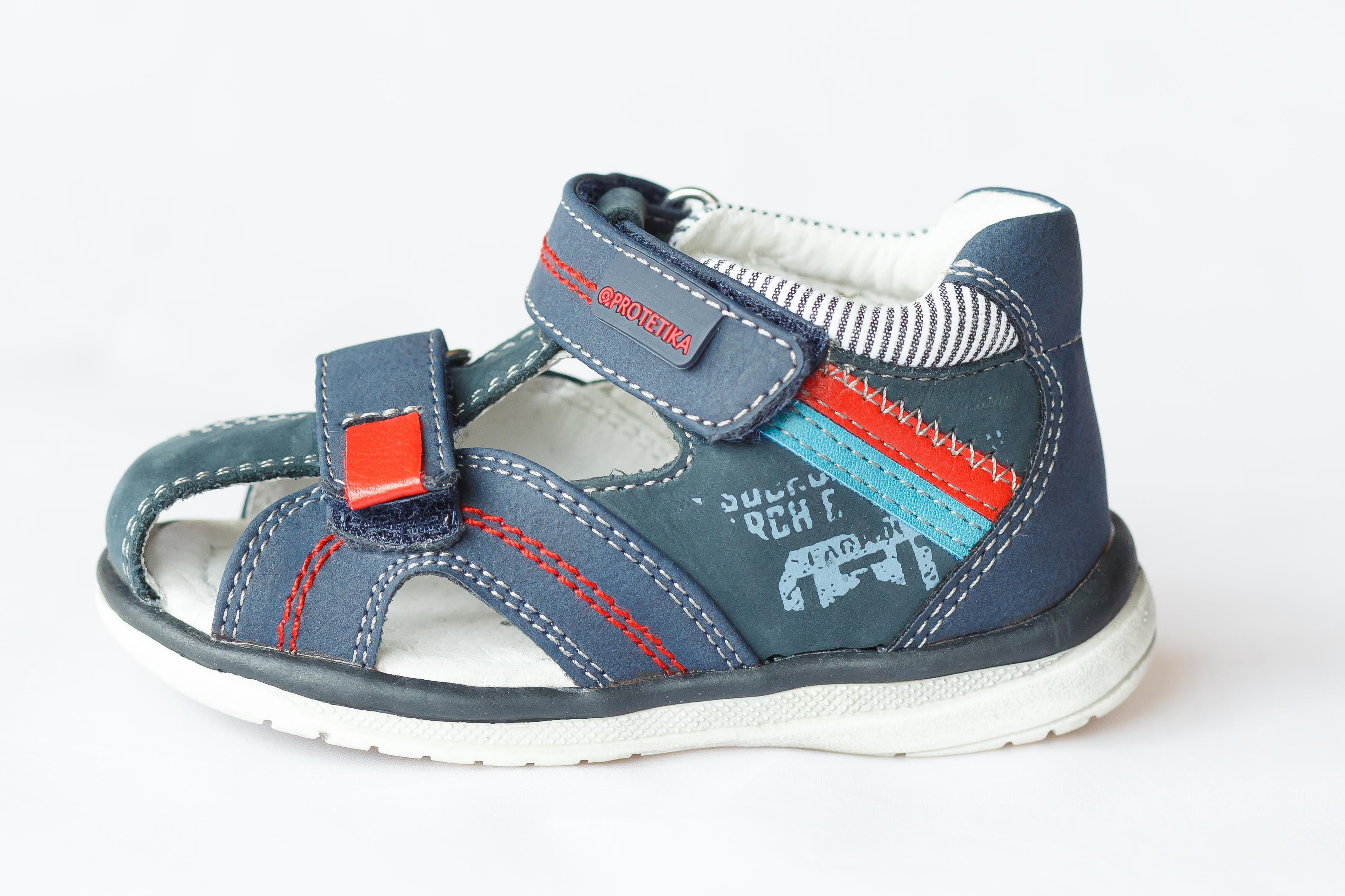 4b35fd0b01db detské sandále Protetika - Traviso denim