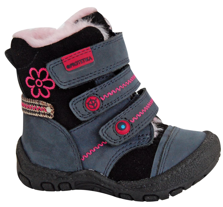0b4c769b5c97 Dievčenské topánky na zimu - Protetika - Tito Black
